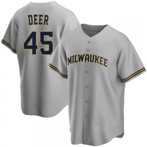 Youth Milwaukee Brewers Rob Deer Gray Road Jersey - Replica